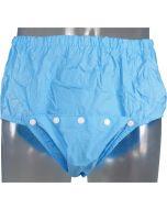 Plastik Hose mit Druckknöpfen an Vorderseite