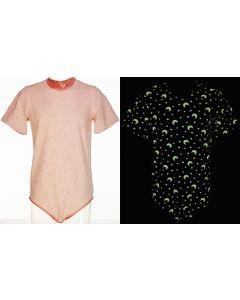 CareClo Print Body mit Kurze Ärmel, Glow in Dark ROSA