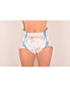 Cloudrys Cloud Print Diapers, Plastic Backed