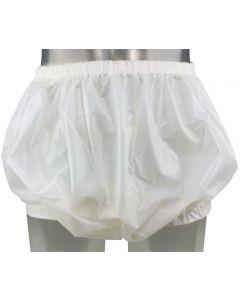 Großzügige Plastik Hose mit Breite Gummibänder