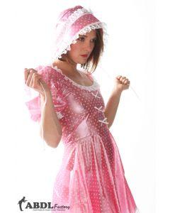 Sissy Bo Peep Kleid von Rosa Polkadot PVC, Damen