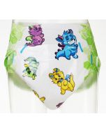 Little Rascals, Thick Print Diapers, Plastic Backed