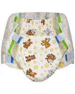 Crinklz Adult Diapers with Print, Plastic Backed