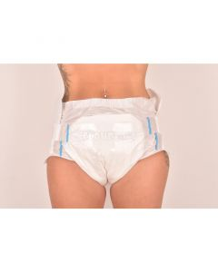 Cloudrys White Diapers, Plastic Backed