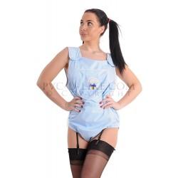 FabiBabi AB PVC Babygrow, Blue Opaque