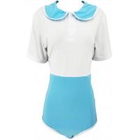 Cotton Preppy Style Onesie, White Blue (KL365BLUPRE) €20.95