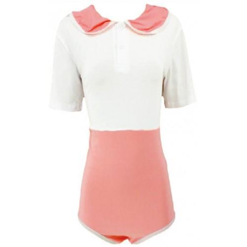 Cotton Preppy Style Onesie, White Pink (KL365PINPRE) €20.95