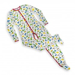 Adult Footed Jammies with Print
