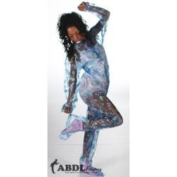 AB Baby Grow Pajama from PVC - Semi Trans Blue Nursery Print
