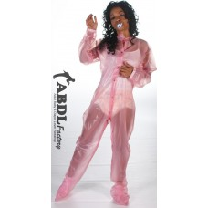 AB Baby Grow Pajama from PVC - Semi Trans Pink