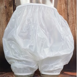 Drylife Vinyl Pull-On Bloomers for Adults, Semi-Clear White