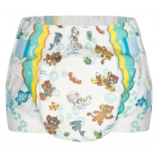 Crinklz AQUANAUT Print Slip Diapers, Plastic Backed
