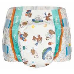 Crinklz ASTRONAUT Print Slip Diapers, Plastic Backed