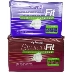 Prevail Maximum Stretchfit Slip Diapers, Cotton-Feel