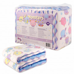 Rearz Lil Monsters V3, Plastic Backed Print Diapers