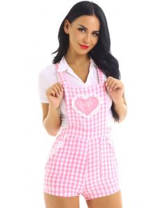Roze Adult Baby Overal