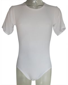 Witte Romper Body met korte armen