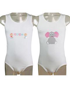 Baby of Olifant plaatje voor op eigen kledingstuk