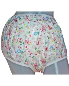 Pull Up Big Baby Plastic Broekjes met Vlinder - Bloemen Print