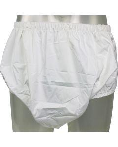 Wit broekje met ademende PUL buitenlaag