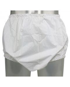 Pull-On PVC Broek met Smalle Elastieken, Wit of Transparant