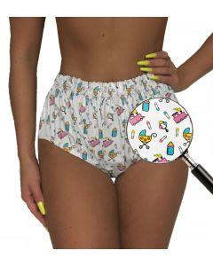 PVC Pants met Gelaste Naden en Drukknopen - Fabimonti